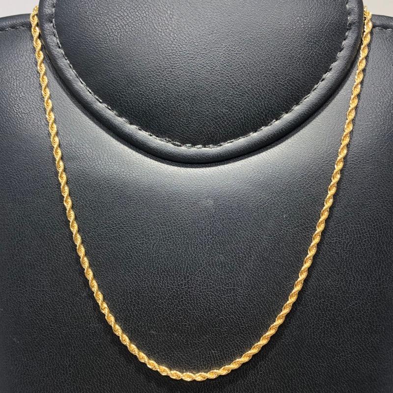Corrente Folheado Ouro 18k Cordão Baiano 50cm