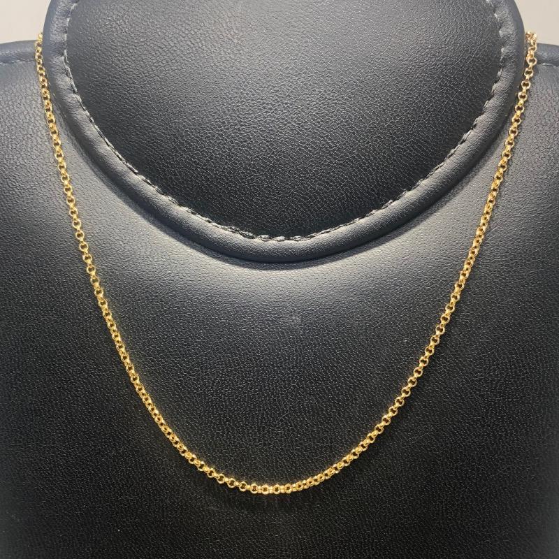 Corrente Folheado Ouro 18k Elo Português 50cm