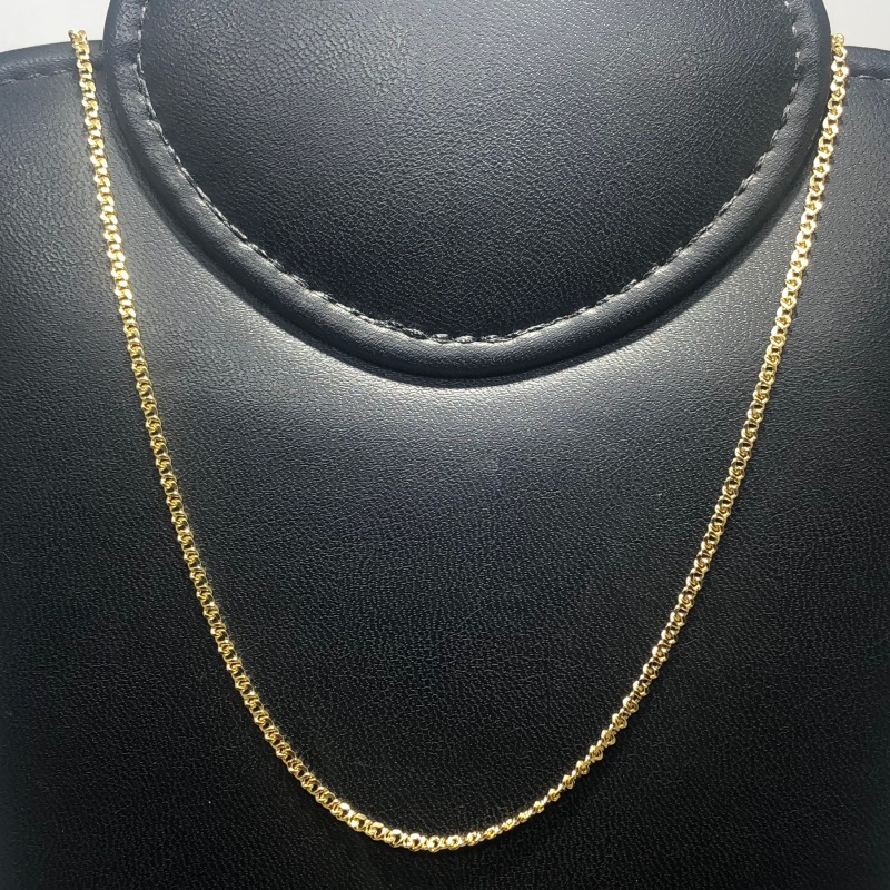 Corrente Folheado Ouro 18k Grumet 60cm