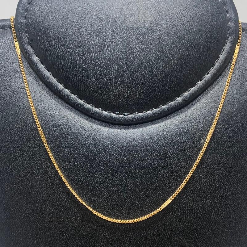 Corrente Folheado Ouro 18k Grumet Elos Achatados 45cm