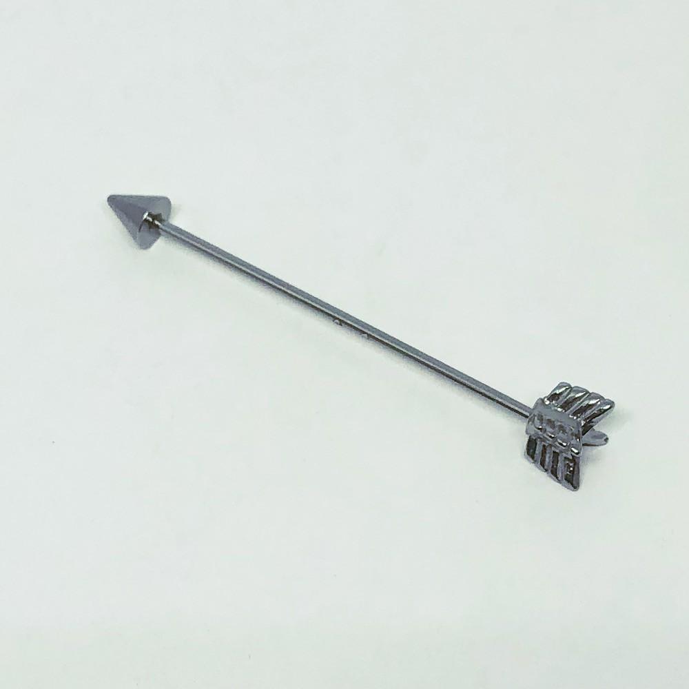 Piercing Aço Industrial Transversal Flecha 4 Penas
