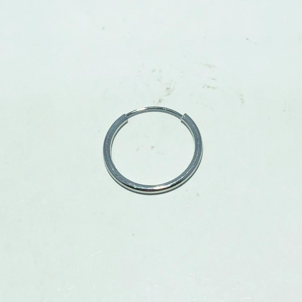 Piercing Argola Aço Liso 12mm