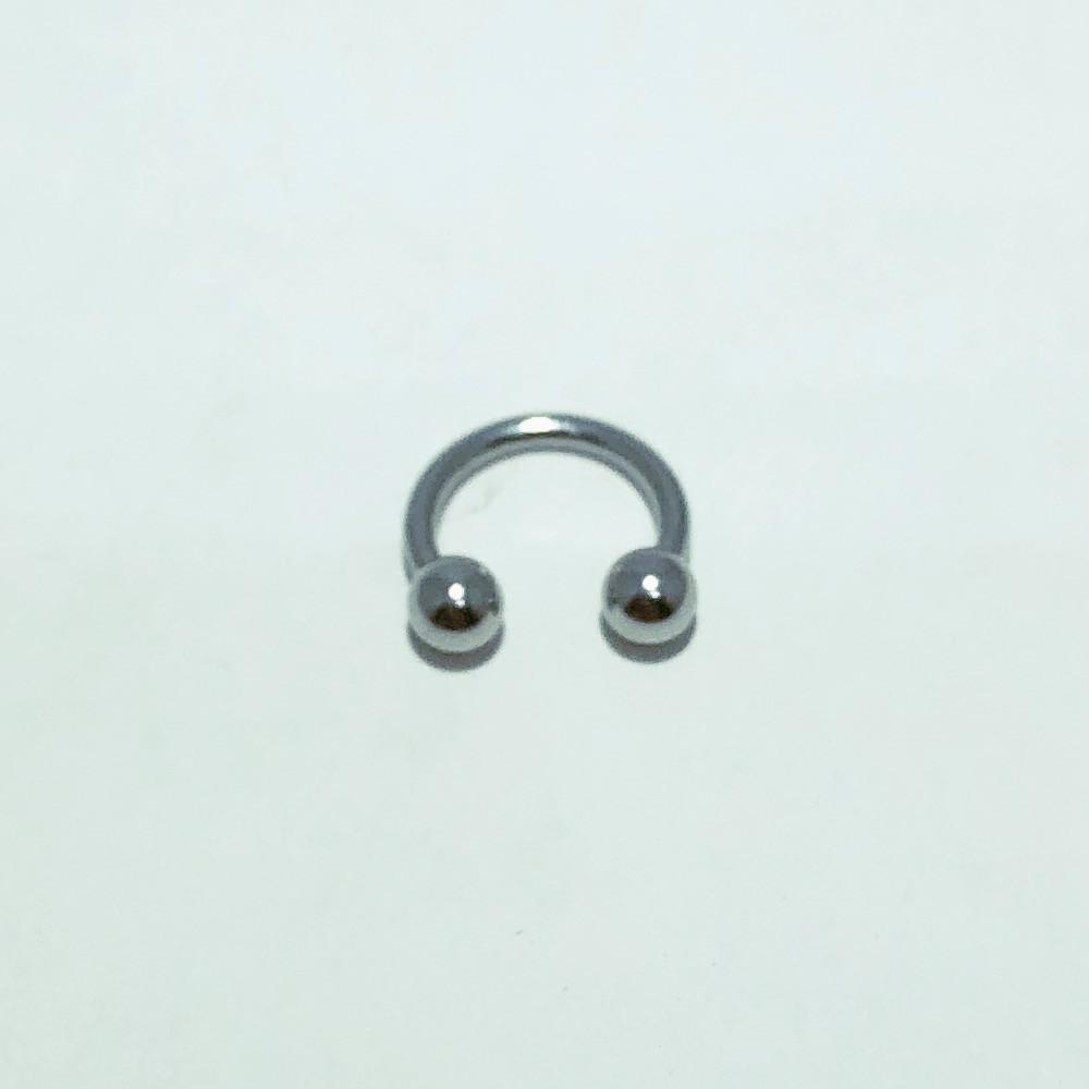 Piercing Ferradura Aço Liso 8 mm