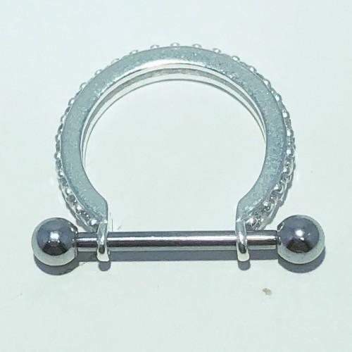 Piercing Prata 925 Conch 1 Fileira Cravejado Zircônia