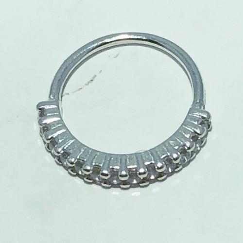 Piercing Prata 925 Helix 12 Zircônias