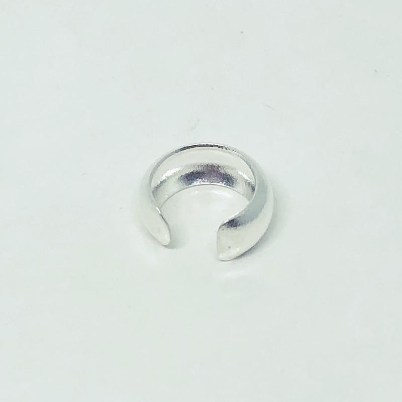 Piercing Prata 925 Pressão Lisa Meia Cana