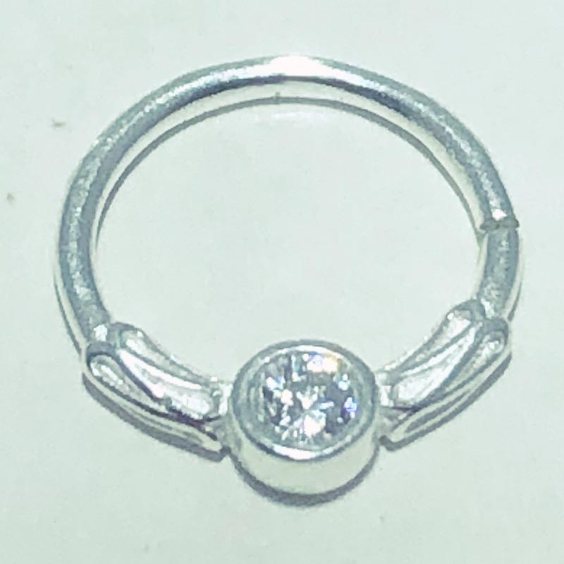 Piercing Prata 925 Septo Bali Zircônia