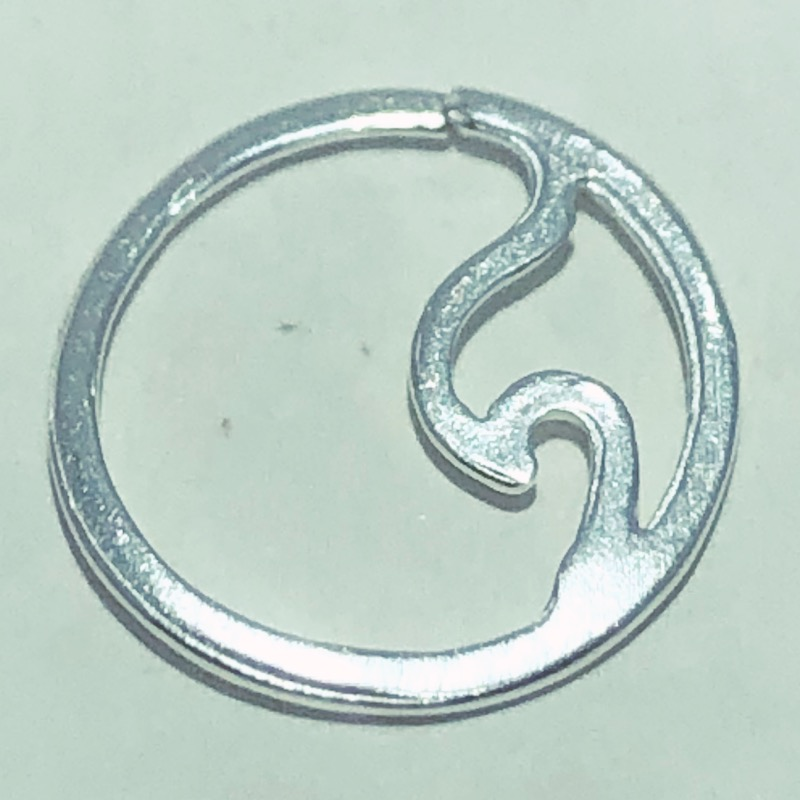 Piercing Prata 925 Septo Onda