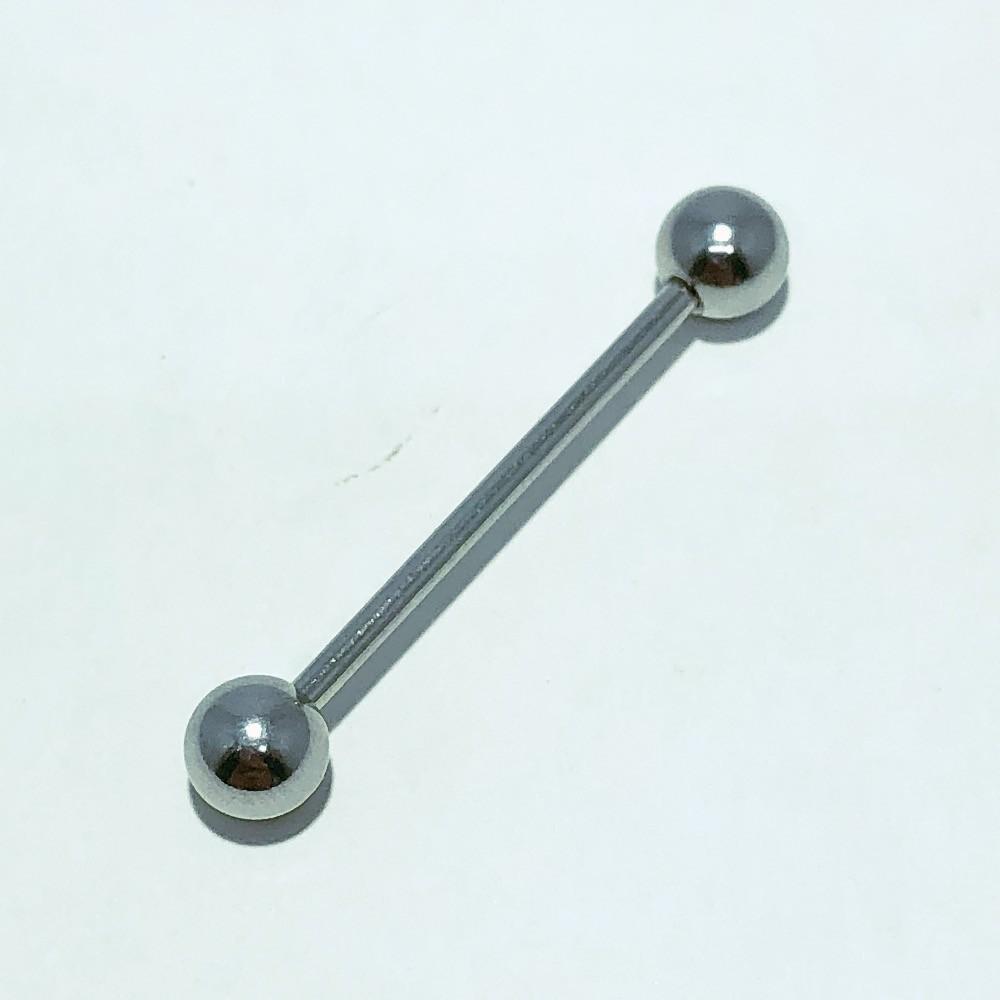 Piercing Reto Aço Bolinha nas pontas 31 mm