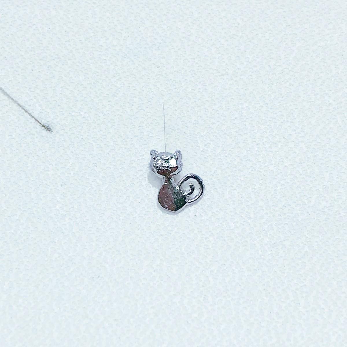 Piercing Tragus Banho de Ródio Gato Olhos zircônia