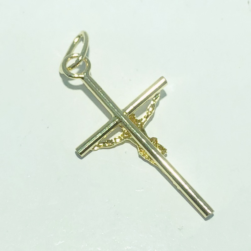 Pingente Folheado Ouro 18k Cruz Cristo