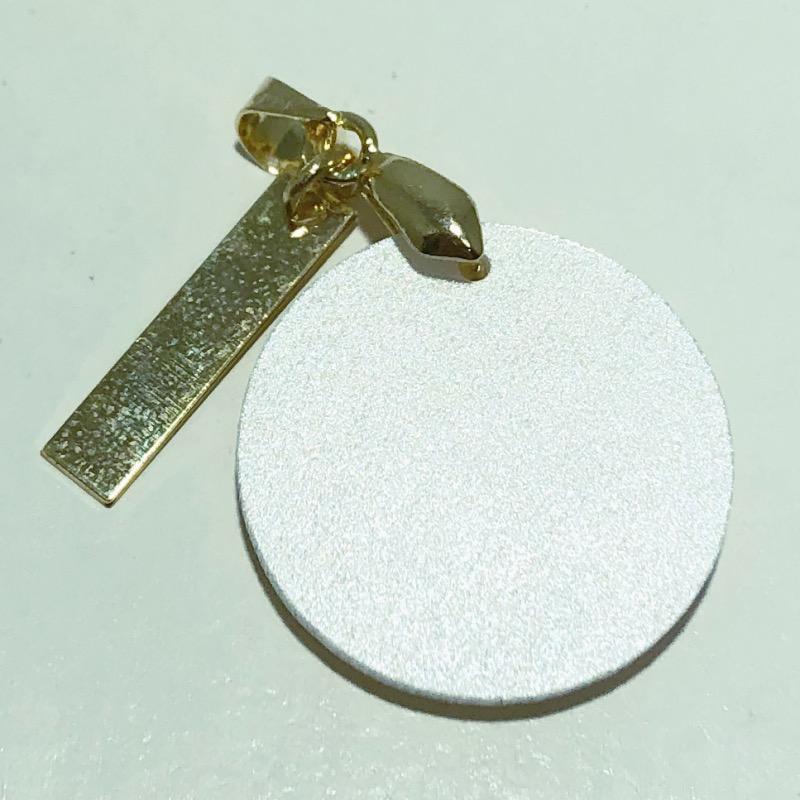 Pingente Folheado Ouro 18K Madrepérola Redondo Odontologia Ródio