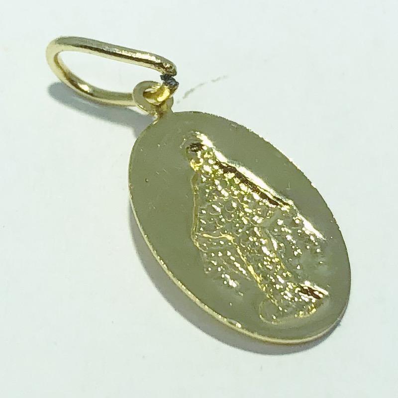 Pingente Folheado Ouro 18K Medalha Nossa Senhora das Graças