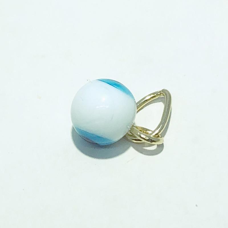 Pingente Folheado Ouro 18K Olho Grego Azul