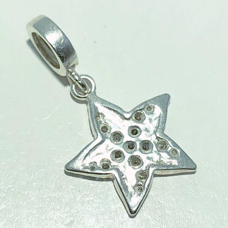 Pingente Prata 925 Estrela do Mar Zircônia