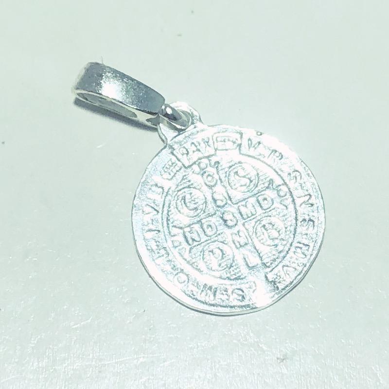 Pingente Prata 925 Medalha São Bento