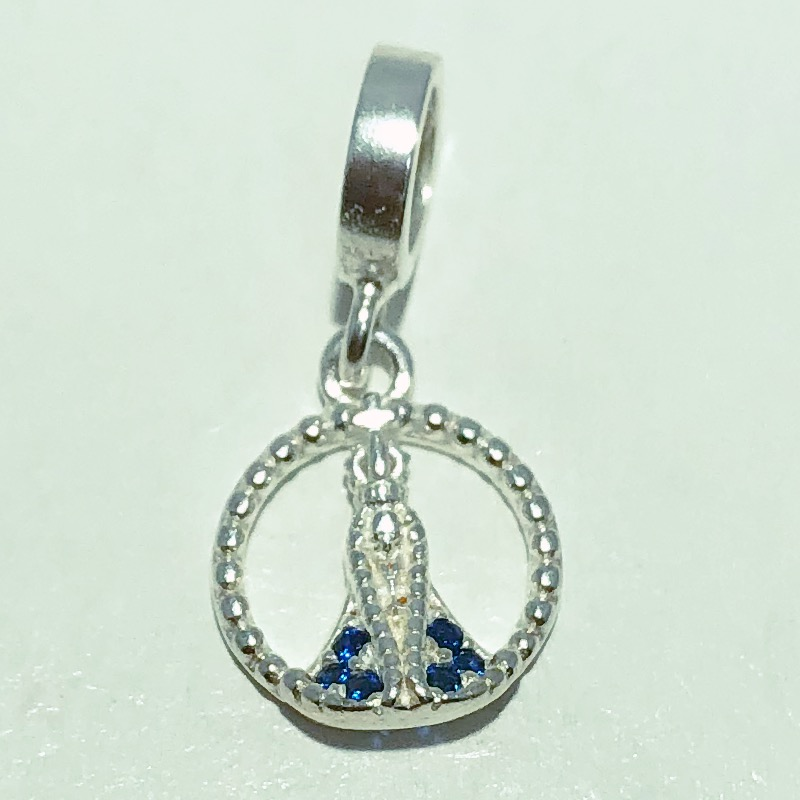 Pingente Prata 925 N.S.A Manto Zircônia Azul