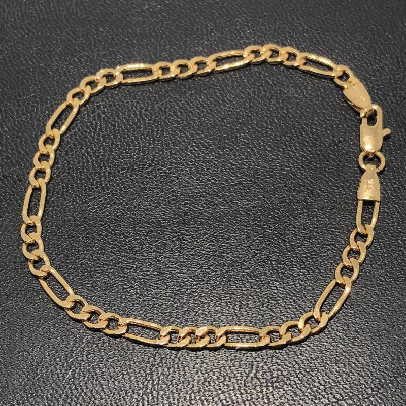 Pulseira Folheado Ouro 18k 3x1 20cm