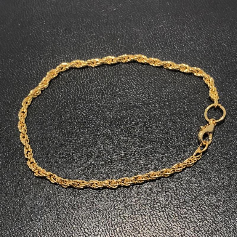 Pulseira Folheado Ouro 18k Cordão Baiano 18cm