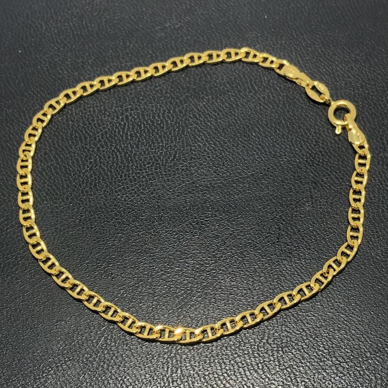 Pulseira Folheado Ouro 18k Latinha 21cm
