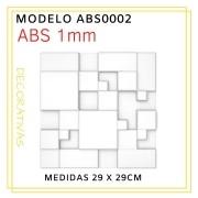 Forma De Gesso 3D em ABS - ABS0002-1MM 30x30cm