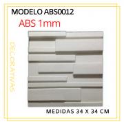 Forma De Gesso 3D em ABS - ABS0012-1MM 34x34cm