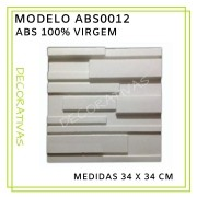 Forma De Gesso 3D em ABS - ABS0012-2MM 34x34cm