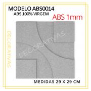 Forma De Gesso 3D em ABS - ABS0014-1MM 29x29cm