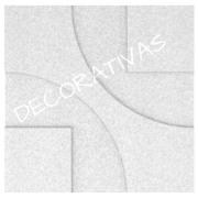Forma De Gesso 3D em ABS - ABS0014-2MM 29x29cm