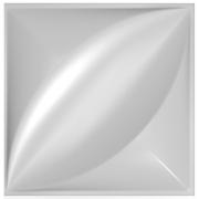 Forma De Gesso 3D em ABS - ABS0019-2MM 29x29cm
