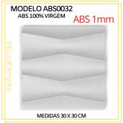 Forma De Gesso 3D em ABS - ABS0032-1MM 29x29cm