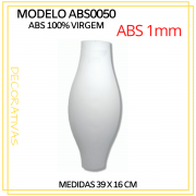 Forma De Gesso 3D em ABS - ABS0050-1MM 16x39cm