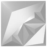 Forma De Gesso 3D em ABS - ABS0065-2MM  29x29cm