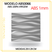 Forma De Gesso 3D em ABS - ABS0066-1MM 29x29cm