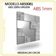 Forma De Gesso 3D em ABS - ABS0081-1MM 29x29cm