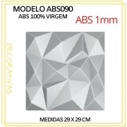 Forma De Gesso 3D em ABS - ABS0090-1MM 29x29cm