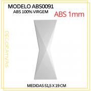 Forma De Gesso 3D em ABS - ABS0091-1MM 51,5x19cm