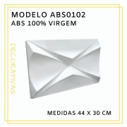 Forma De Gesso 3D em ABS - ABS0102-1MM 30x44cm
