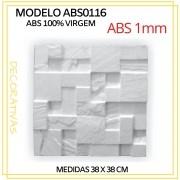 Forma De Gesso 3D em ABS - ABS0116-1MM 38,5x38,5cm