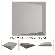 Forma De Gesso 3D em ABS - ABS0126-2MM 14,5x14,5cm