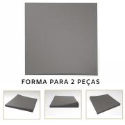 Forma De Gesso 3D em ABS - ABS0127-2MM 14,5x14,5cm