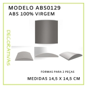 Forma De Gesso 3D em ABS - ABS0129-2MM 14,5x14,5