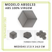 Forma De Gesso 3D em ABS - ABS0133-2MM 17,5x14,5