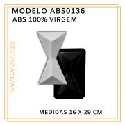 Forma De Gesso 3D em ABS - ABS0136-1MM 16x29cm