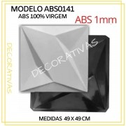 Forma De Gesso 3D em ABS - ABS0141-1MM 49x49cm