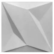 Forma De Gesso 3D em ABS - ABS0141-2MM 49x49cm