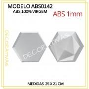 Forma De Gesso 3D em ABS - ABS0143-1MM 25x21cm
