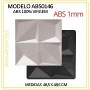 Forma De Gesso 3D em ABS - ABS0146-1MM 48,5x48,5cm
