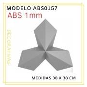 Forma De Gesso 3D em ABS - ABS0157-1MM 38x38cm