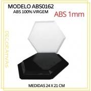Forma De Gesso 3D em ABS - ABS0162-1MM 24x21cm